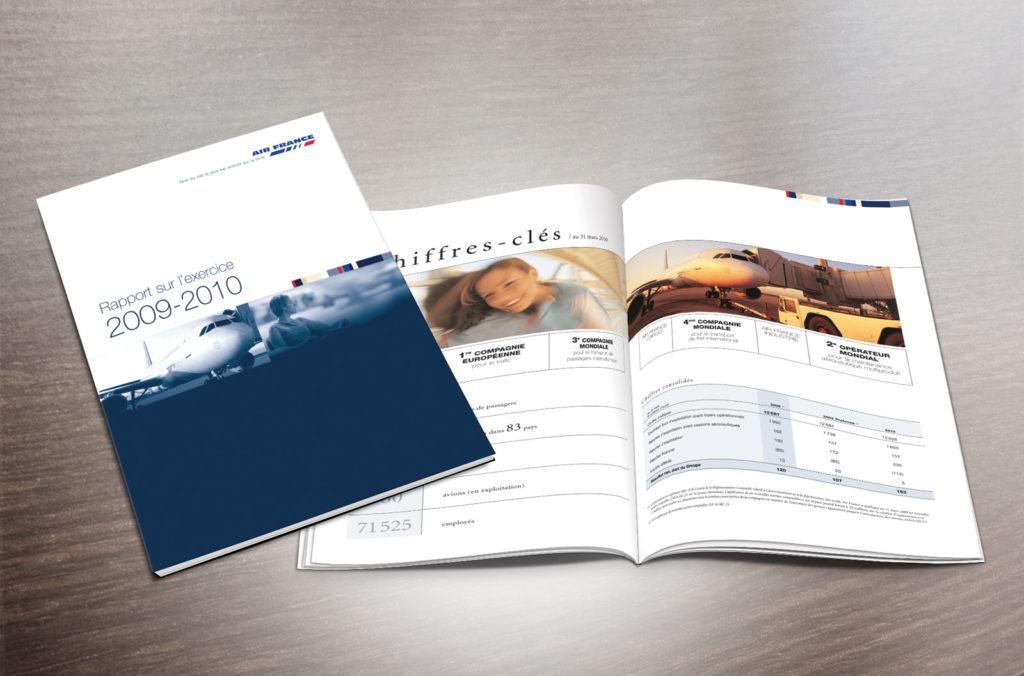 AIR FRANCE Rapport d'activité. Design Olivier Venel
