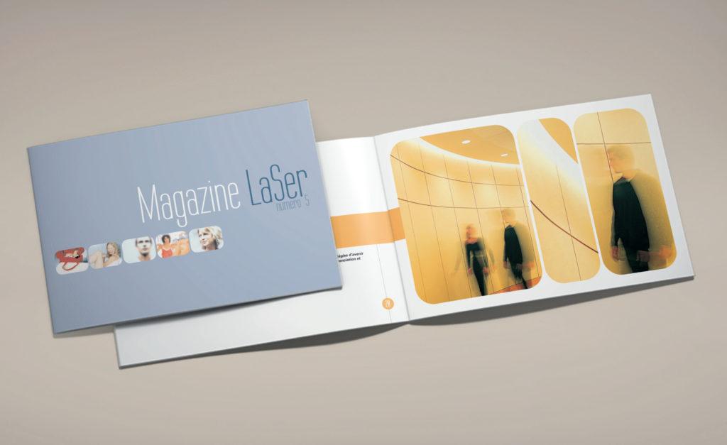 Galeries Lafayette. Magazine laser. Design Olivier Venel pour Joséphine Design