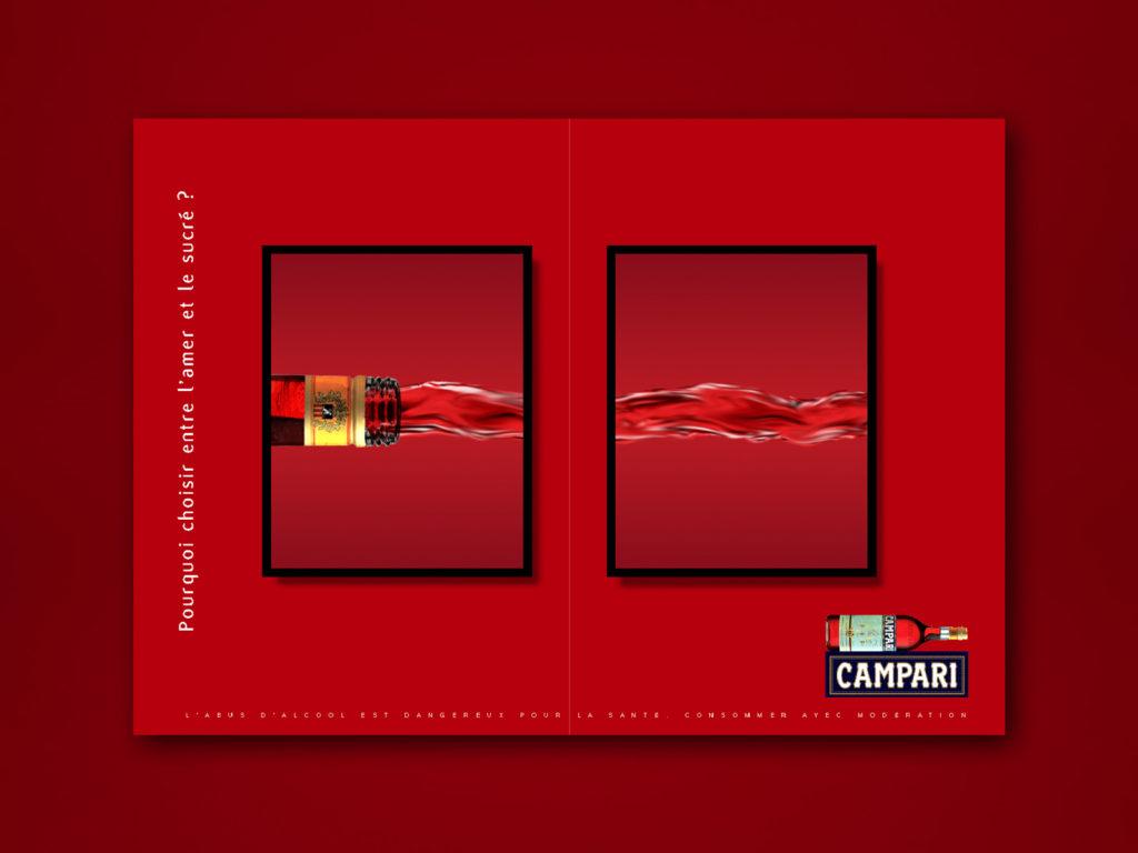 CAMPARI Campagne presse et affichage. Design Olivier Venel