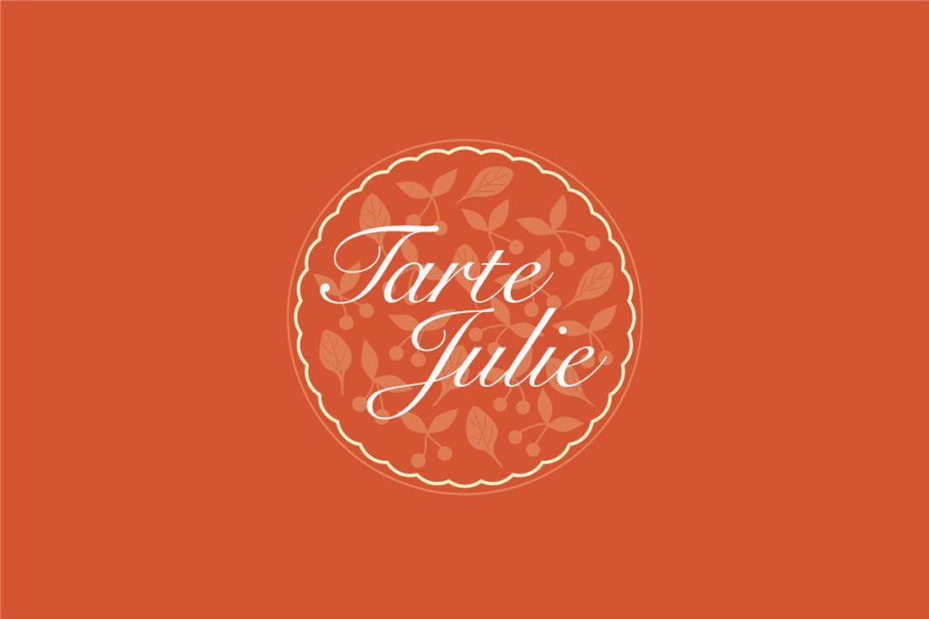 Logo Tarte Julie. Design Olivier Venel pour Joséphine Design