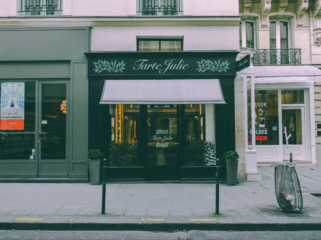 Identité de marque de Tarte Julie. Design Olivier Venel pour Joséphine Design