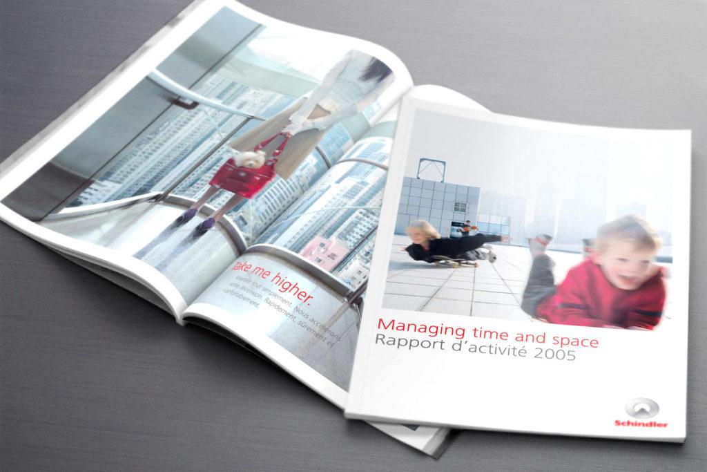 GROUPE SCHINDLER Rapport d'activité 2005. Design Olivier Venel