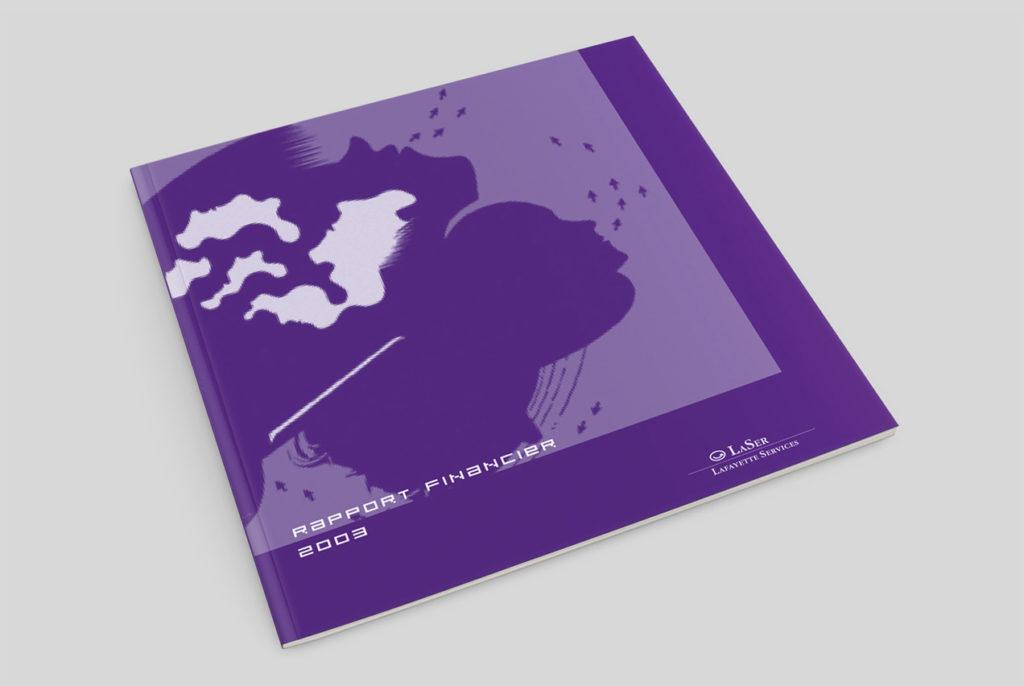 GALERIES LAFAYETTE, LAFAYETTE SERVICE Rapport Financier de LaSer. Design Olivier Venel pour Joséphine Design