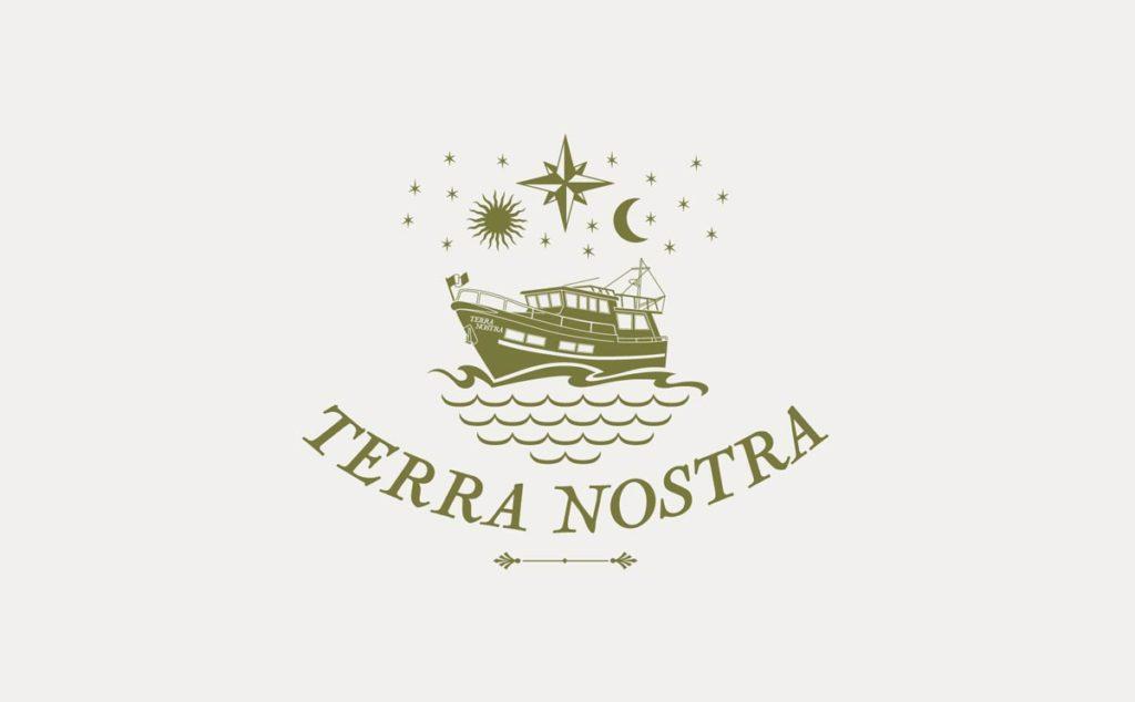 Logo Terra Nostra. Design Olivier Venel pour Joséphine Design