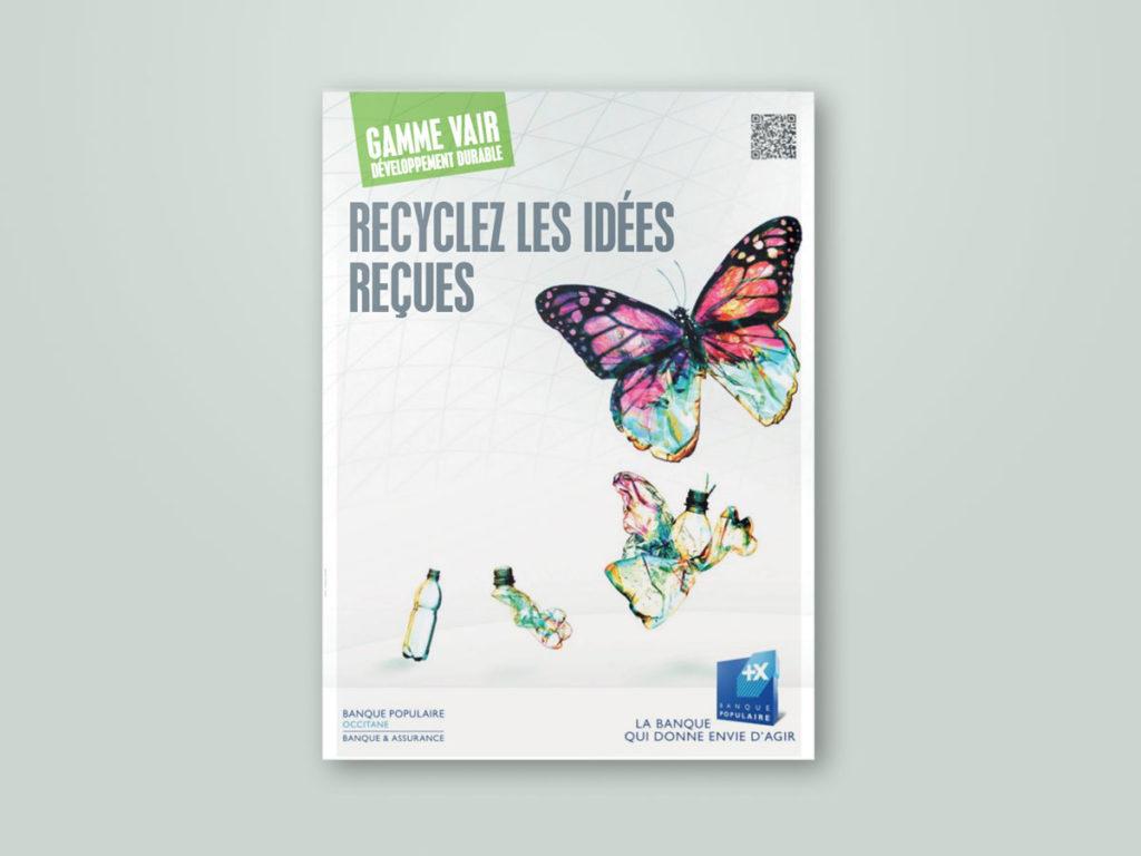 Affiche pour la Banque populaire. Concept Michel Collin.